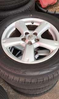 "RAV4 17"" Rims with 225/65/17 Tyres"