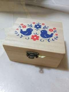 Wooden Box with Paper Boat Origami