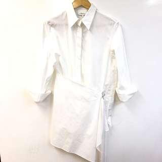 3.1 phillip lim white long shirt size 2