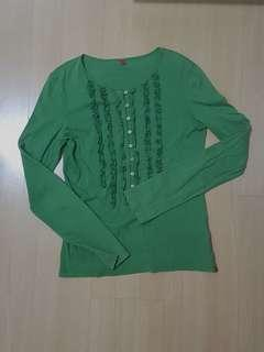 Green long sleeve ESPIRIT top