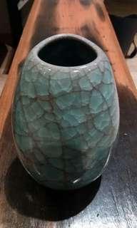 日本 信樂燒花瓶