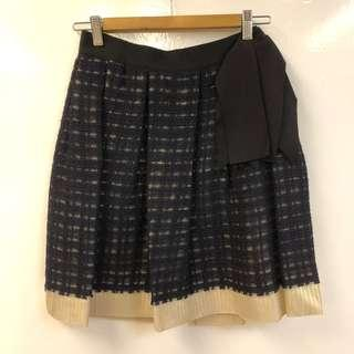 LV louis vitton black and beige skirt size 38