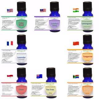 50%on essential oil, set of 8 different oils