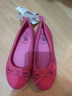 小朋友 粉紅色平底鞋