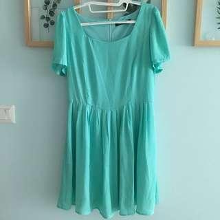 BNWOT Innercircle Turquoise Chiffon Dress