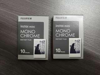 Fujifilm Instax Mini Monochrome (2 packs for 15SGD)