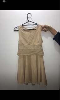 Formal beige dress