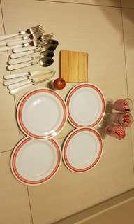 Outdoor picnic set utensils cutlery plates