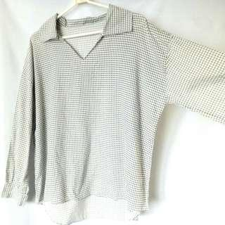 PlusSize Gingham Top