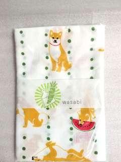 可愛柴犬花印日式手拭巾 Tenugui