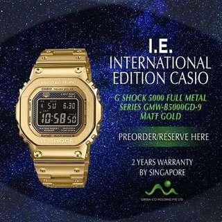 CASIO INTERNATIONAL EDITION G SHOCK GOLD MATT FULL METAL SERIES GMW-B5000GD-9