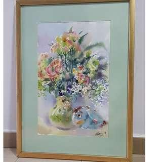 Beautiful Water Colour Painting with Frame.