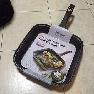 Stone Marble Ceramic Grill Pan