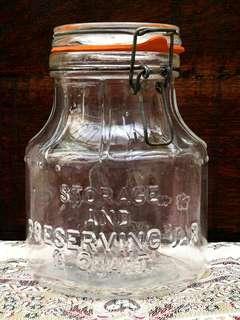 🇮🇹 VINTAGE 1978 GLASS JAR 🇮🇹