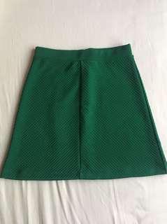 H&M Emerald Green Skater Skirt
