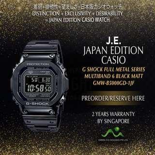 CASIO JAPAN EDITION G SHOCK BLACK MATT FULL METAL SERIES GMW-B5000GD-1JF