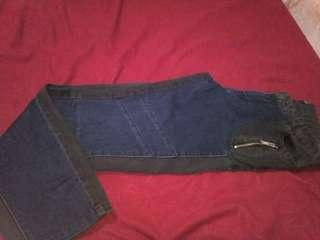 Two tone jeans side