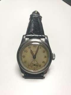 1940s Rare LAVINA Stainless Steel Vintage Swiss Gents Watch
