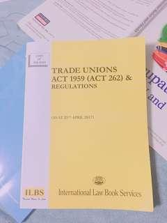 Trade Unions Act 1959 (ACT 262) & Regulations