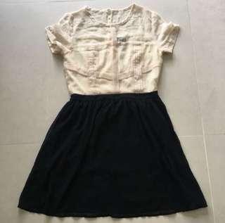 🚚 Dressabelle contrast dress size M
