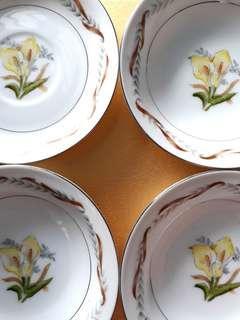 Vintage Saucer and Dessert Plates
