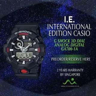 CASIO JAPAN EDITION G SHOCK 3D DIAL GA700-1A