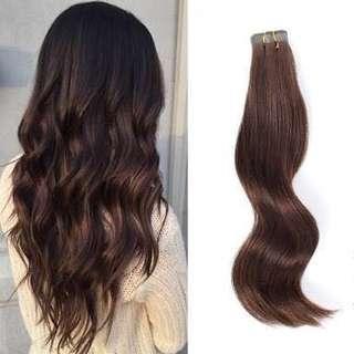 Brown Korean Long Wavy Hair Extensions
