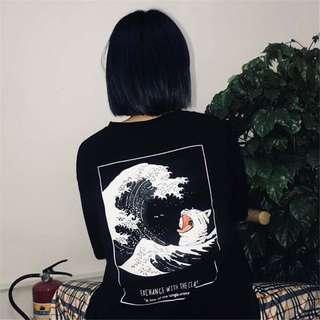 👼🏻 (PO) Oversized Korean tidal wave shirt
