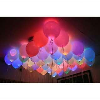 LED Balloon 5 pcs Assorted Color