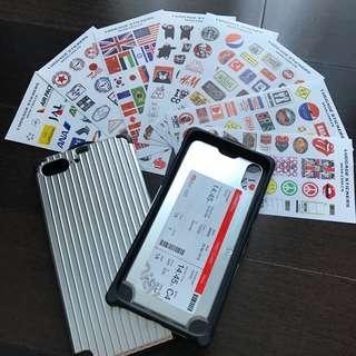 Ready Stock: Luggage Sticker iPhone 7+ 8+ Case