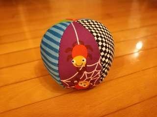 (全新) 嬰兒 BB玩具波波 內有搖鈴 六面不同圖案及質感