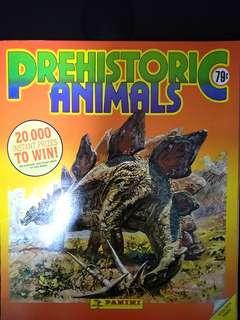 Vintage 1992 Prehistoric Animals Sticker Album