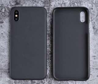 iPhone X / XS / XS Max / XR Solid Matte TPU Soft Case