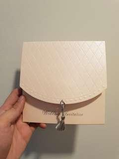 70 pcs brand new blank Wedding blush pink invitation Cards with tassels + inserts and envelopes
