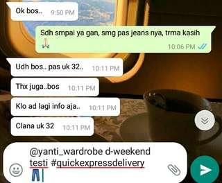 @yanti_wardrobe d-weekend testi👖#quickexpressdelivery 🏍️💨