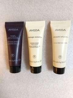 Aveda exfoliating shampoo, Restructing conditioner , style Prep smoother