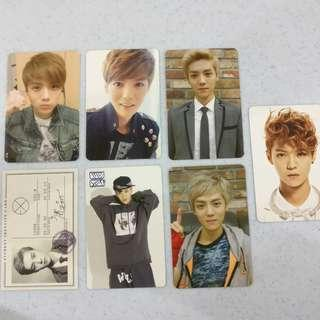 EXO Luhan Official Album Photocard (MAMA, Wolf, Growl, Overdose)