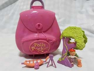 Vintage Polly Pocket Jungle Adventure Backpack Full Set (Bluebird 1996)