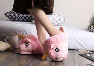 Pink Unicorn Bedroom Slippers