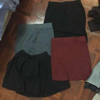 Assorted skirts