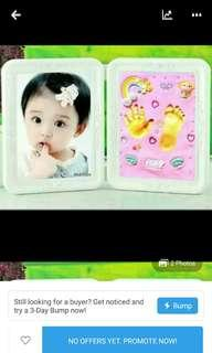 Photo Frame With clay hand foot print
