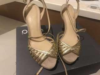 Charles and Keith Gold Strappy Heels