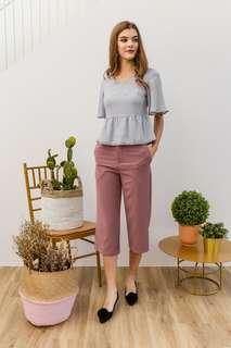 The stage walk WILLIS BASIC HIGHWAISTED CULOTTES IN DUSTY ROSE size s