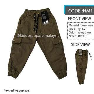 H&M KIDS CARGO PANTS SELUAR BUDAK (2y-6y) HM1