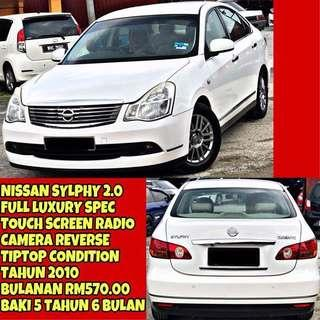 NISSAN SYLPHY 2.0 FULLSPEC LUXURY (MONTHLY INSTALMENT RM570.00 ONLY) SAMBUNG BAYAR / CONTINUE LOAN