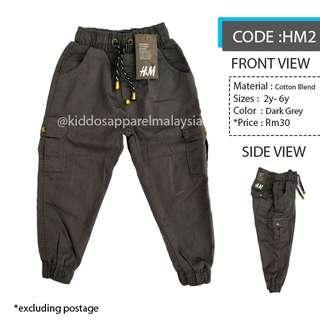 H&M KIDS CARGO PANTS SELUAR BUDAK (2y-6y) HM2
