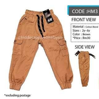 H&M KIDS CARGO PANTS SELUAR BUDAK (2y-6y) HM3