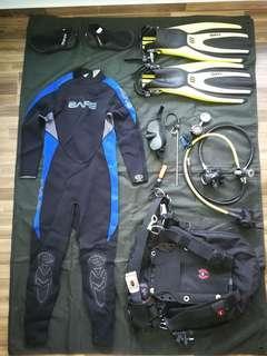 Full set dive gears