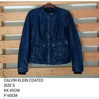 JAKET BIKER RIDING CALVIN KLEIN COATED COTTO WOMEN