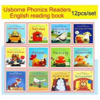 Usborne Phonics Readers Collection - 12 Books with flaps + One CD